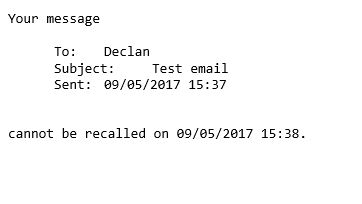 Recalled email message