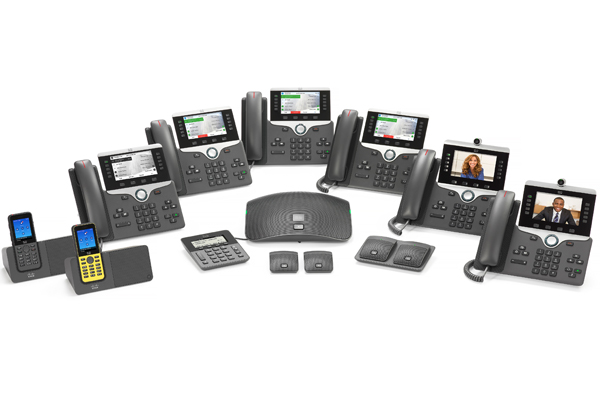 The complete Cisco 8800 IP Phone Range, works with VoIP for Business