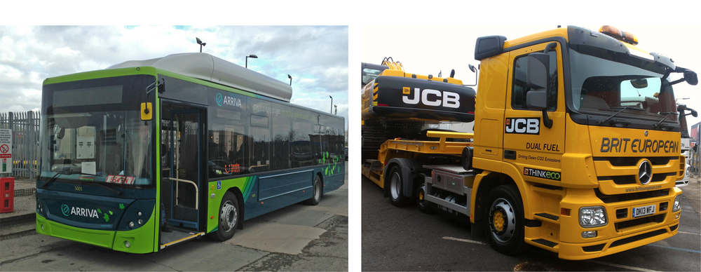 Two Examples of vehicles that are substituting natural gas for diesel