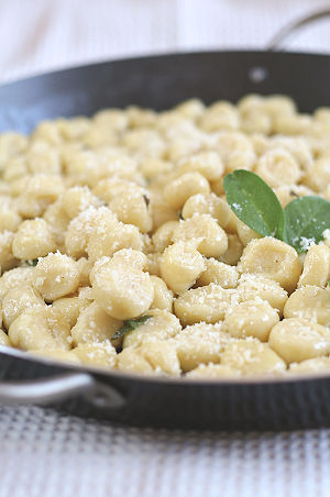 Gnocchi with ricotta.