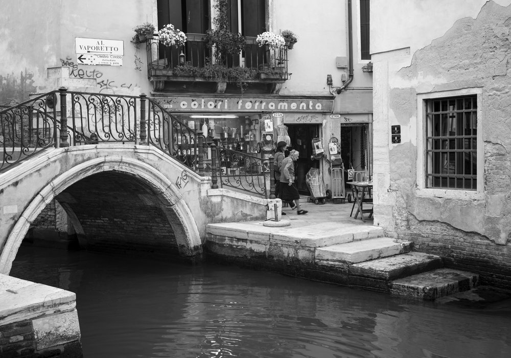 Italy - Venice in Black and White