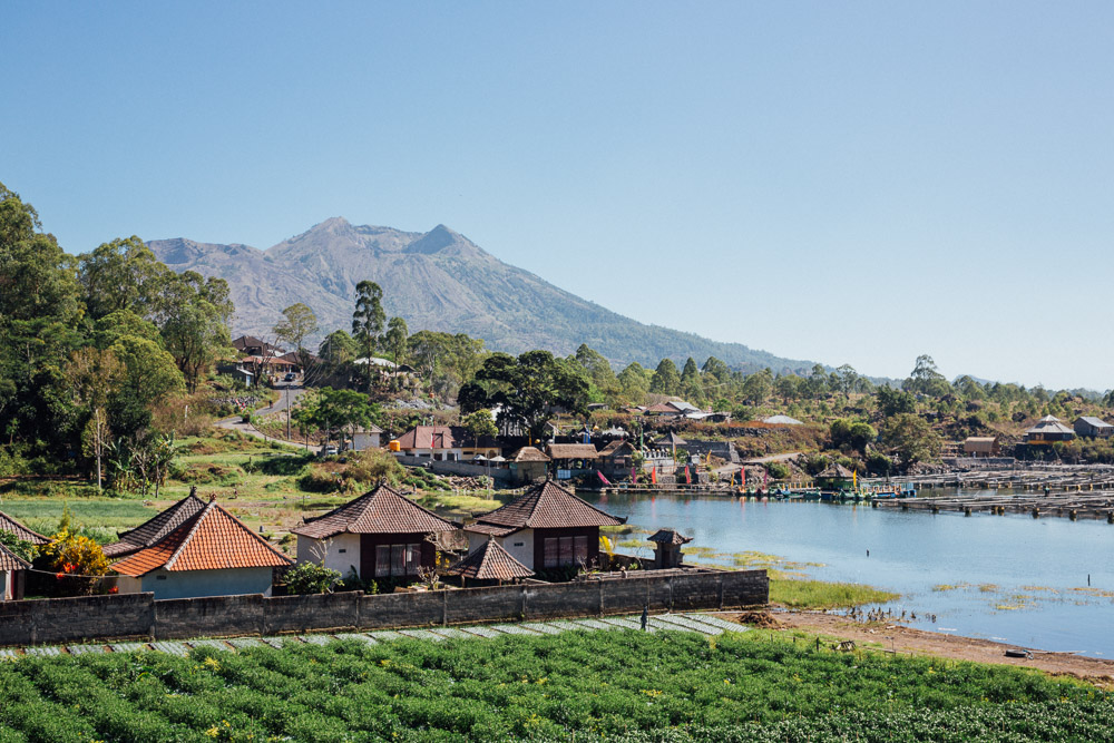 Fishing village around Mt. Batur