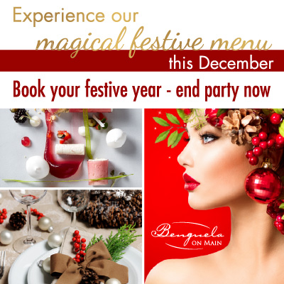 Book Your Year End Party Now Benguela Dining