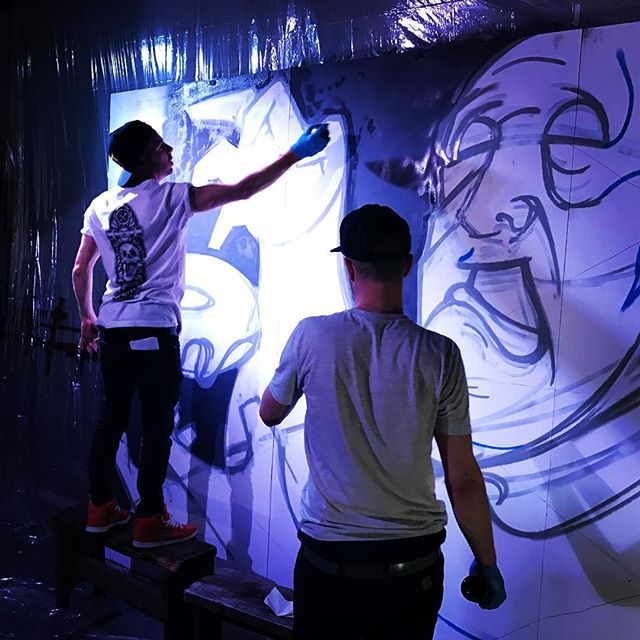 @krookedheroes @twosixtysix tonight!! #workinprogress #hackney #shoreditch #liveart