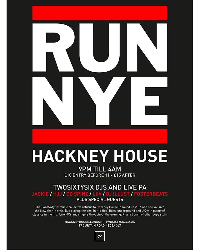 Stylin' it this NYE with @twosixtysix #RUNNYE tickets on the door from £10 or get them in advance at http://bit.ly/2hzvPye  see ya there....... #nye #runnye #nye2017 #party #djs #livemusic #entertainment #bar #craftbeer #hackney #shoreditch #curtiainroad