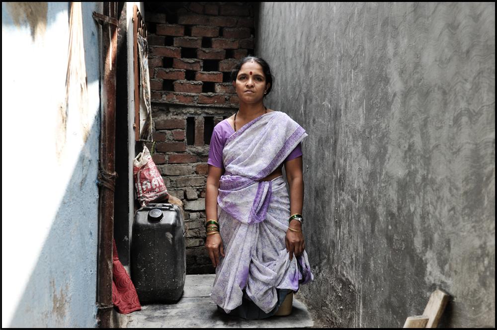 Bharti Sawant lives in a Mumbai suburban slums