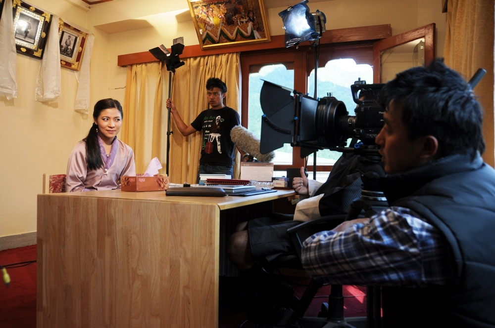 Bhutanese film set