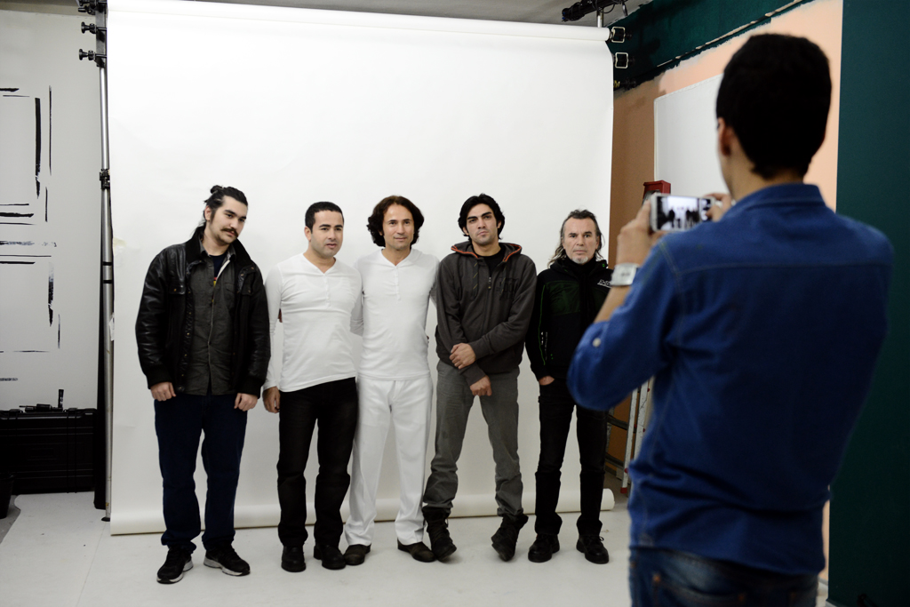 Ahmet Tuzer with his band members