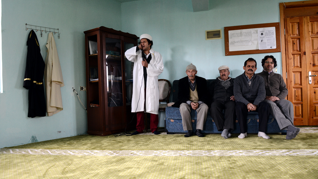Ahmet Tuzer in his mosque