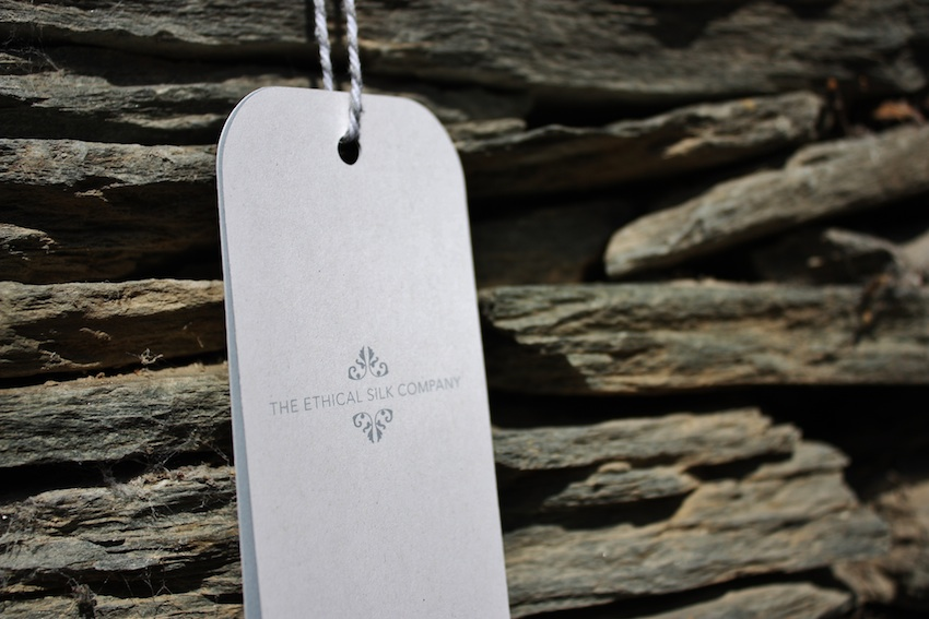 The Ethical Silk Company swing tags
