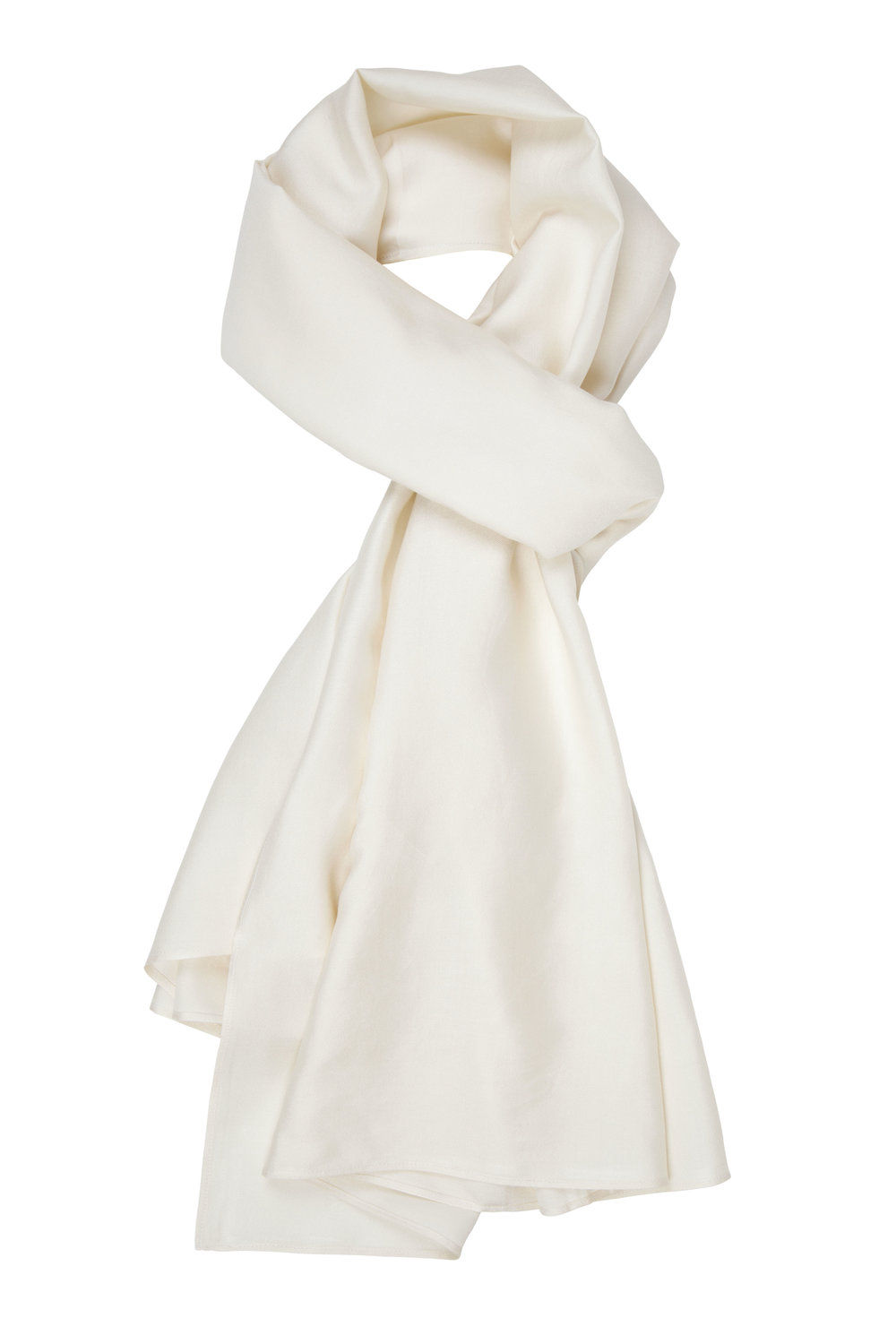 The Ethical Silk Co - Ivory Mulberry Silk Scarf - Plain.jpg