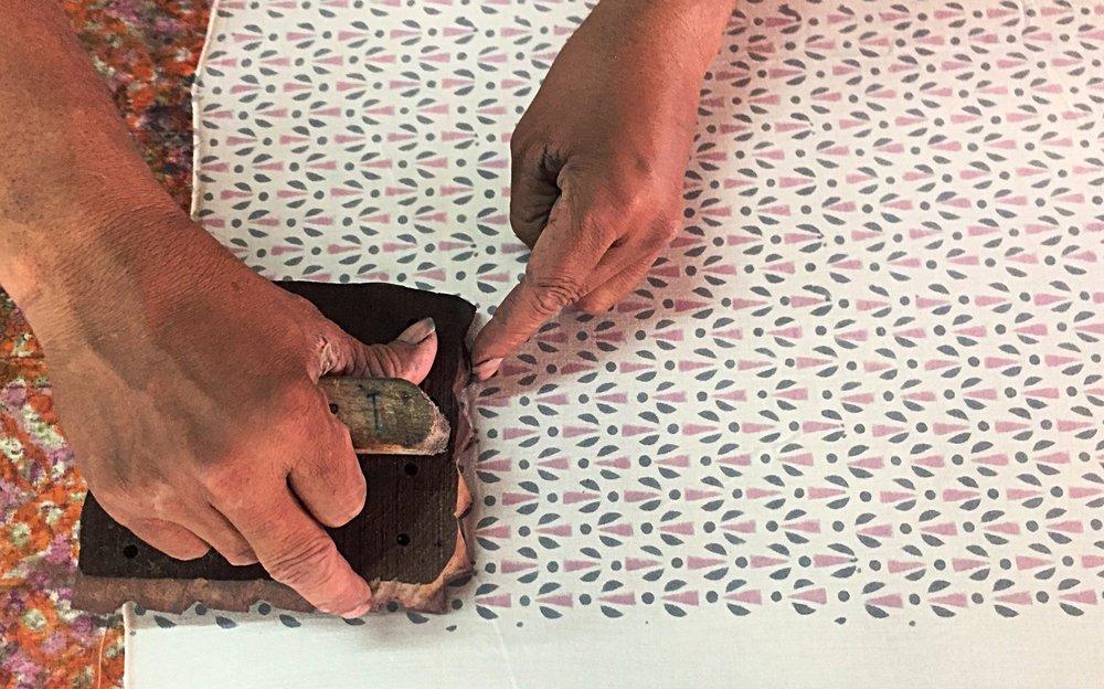 Blockprinting Mehera Shaw.JPG