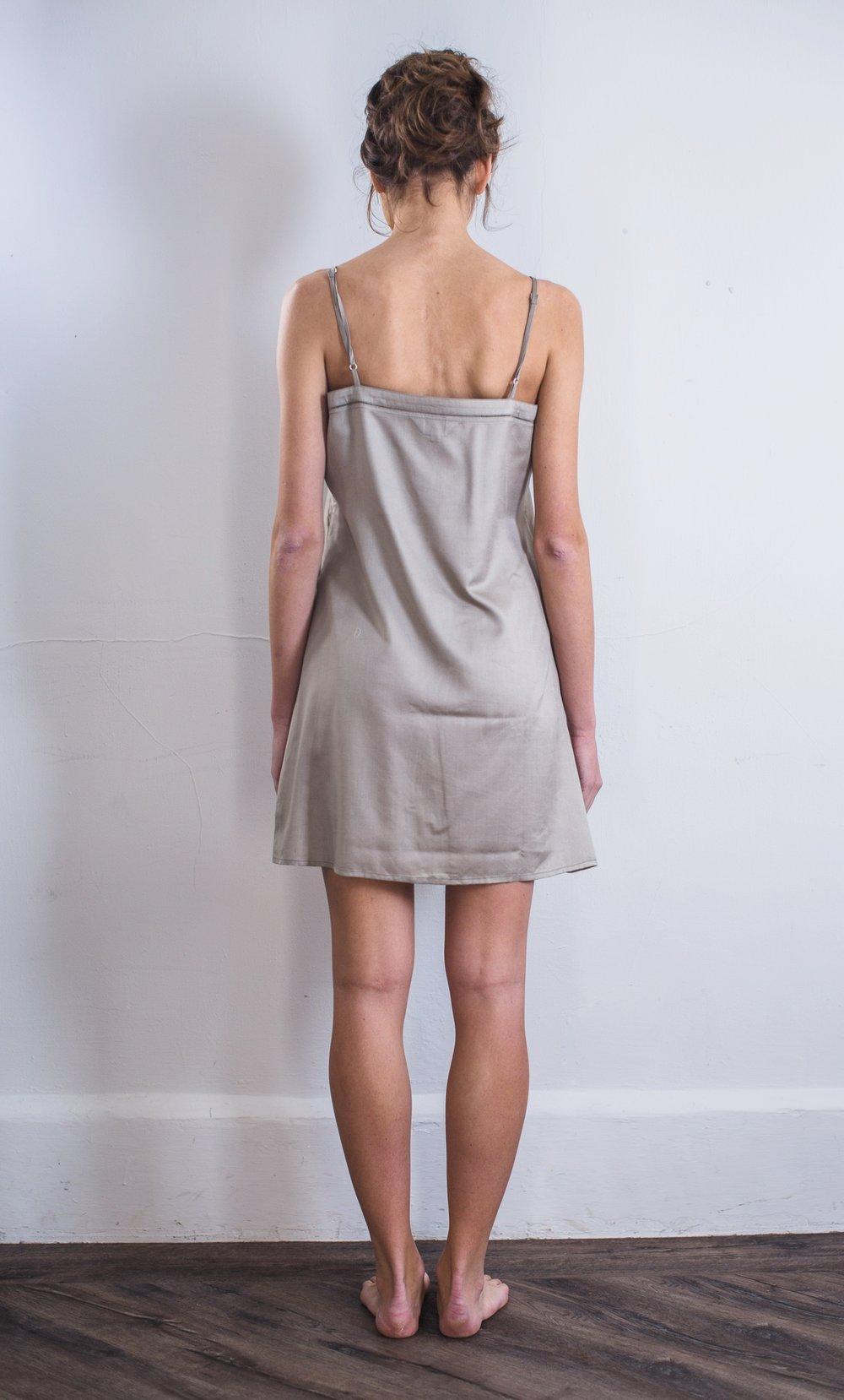 f2125370b99e8 Mulberry Silk Nightdress/Slip - Lunar Grey — The Ethical Silk Company