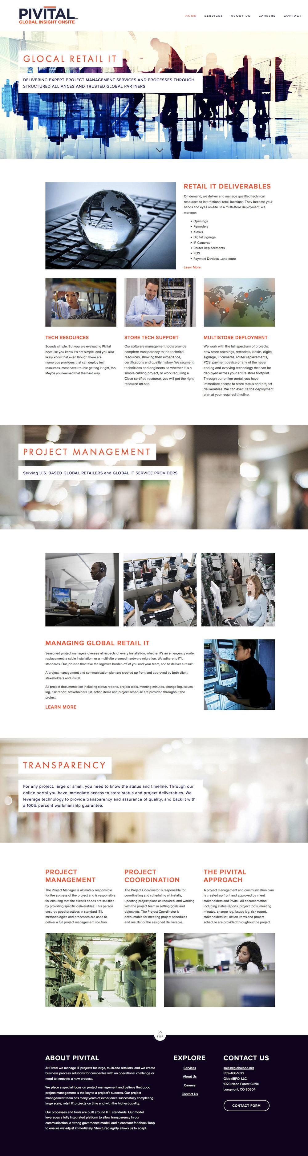 PivitalGlobal.com Website