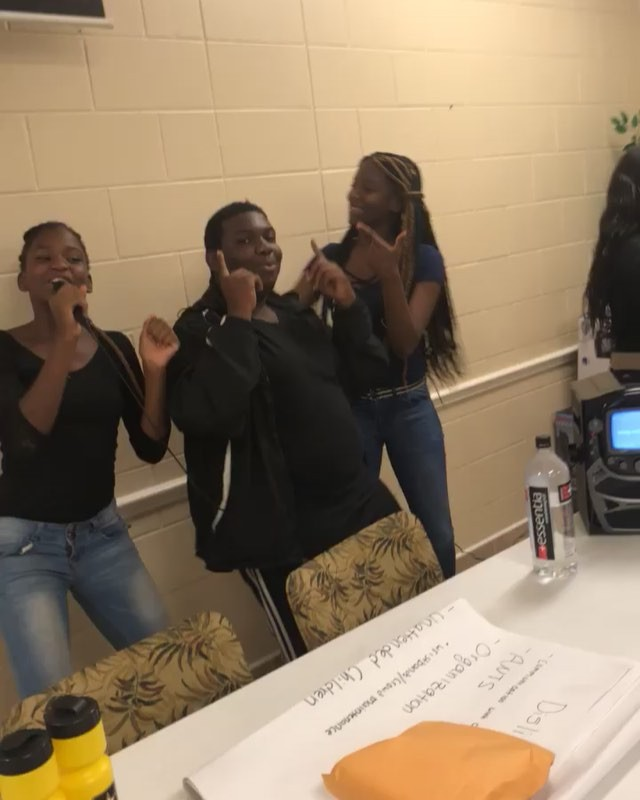Mentees singing and dancing at yesterday's last session for the school year. MAN UP Mentoring, Inc's official sessions will resume in September.  #MANUP #manupmentoringinc #iveylanehomes #orlando #manuptakeover #407
