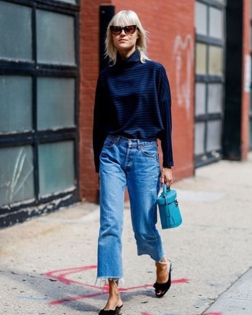 Today in your inbox: Erin breaks down the chewed hem trend and how to wear it 👖have you signed up to our newsletter yet? #baddenimbadwomen