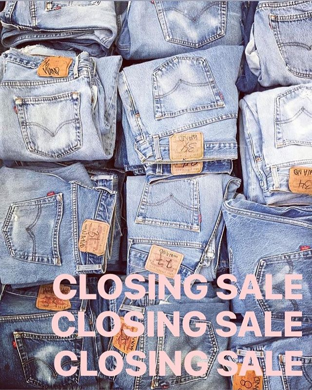 Hey kittens! The lease is up! Closing our East London shop. Huuuuge closing sale - jeans from £20, 30-70% off new season, 20% off vintage. Open today until 5!