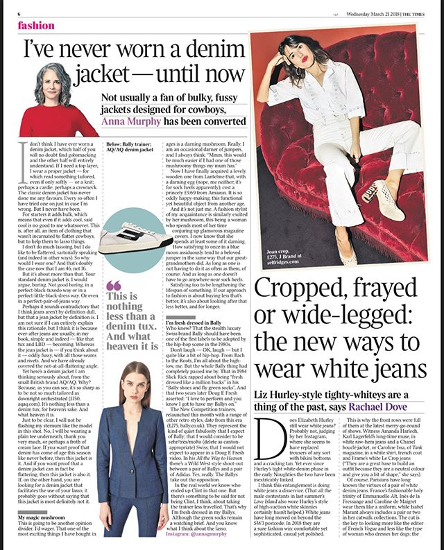 See what we had to say to @thetimes about white denim. HINT: 🔥🔥#baddenim #baddenimbadwomen #whitedenim #denim #trend #jeans #whitejeans