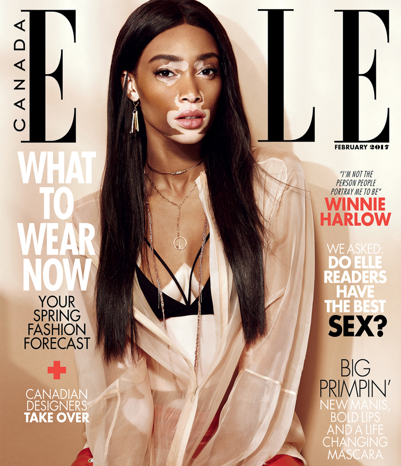 Elle Canada - Feb 17 - Winnie Harlow - Anastassia Sel Jewelry