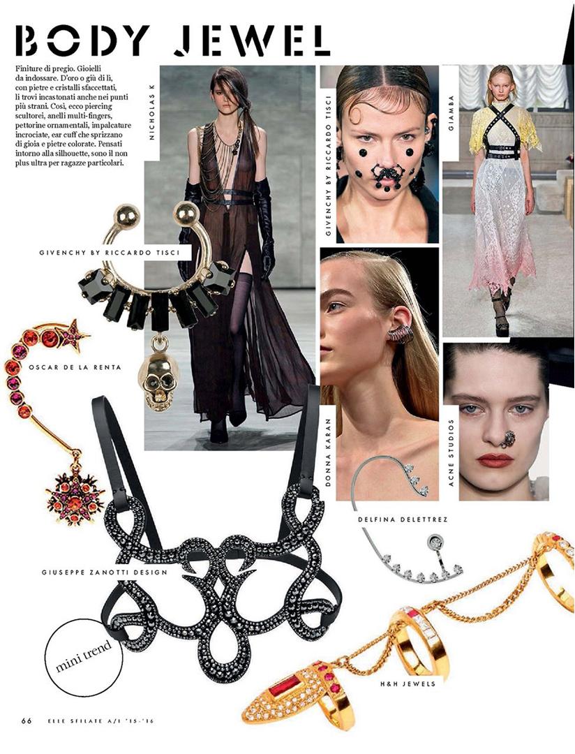 ELLE Sfilate - Anastassia Sel Jewelry