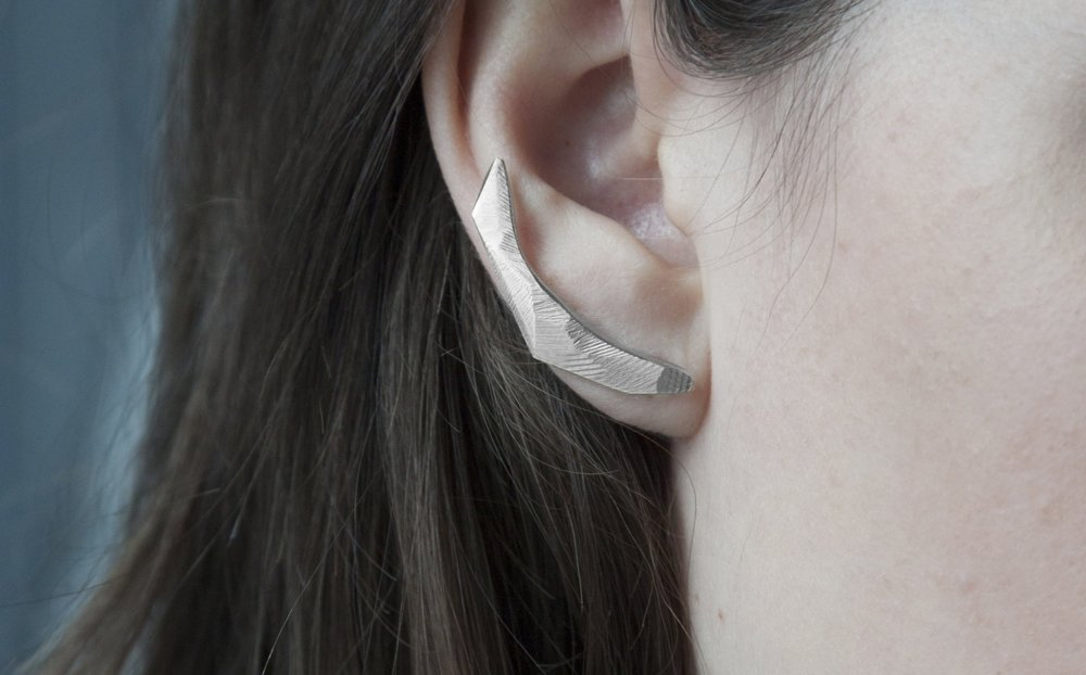 Anastassia Sel Jewelry - Nostalgia Collection - Silver Languish Ear Crawlers.jpg