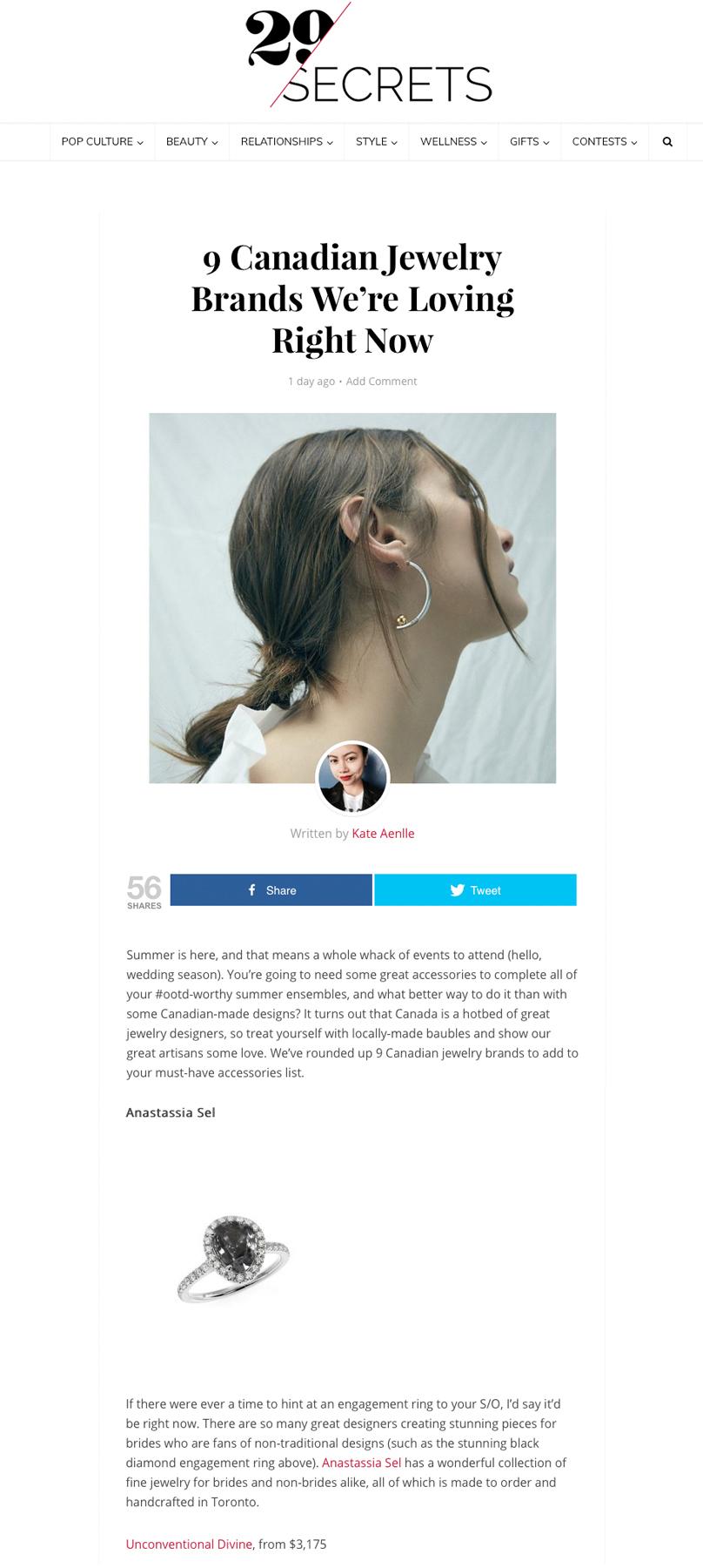 29 Secrets - Anastassia Sel Jewelry