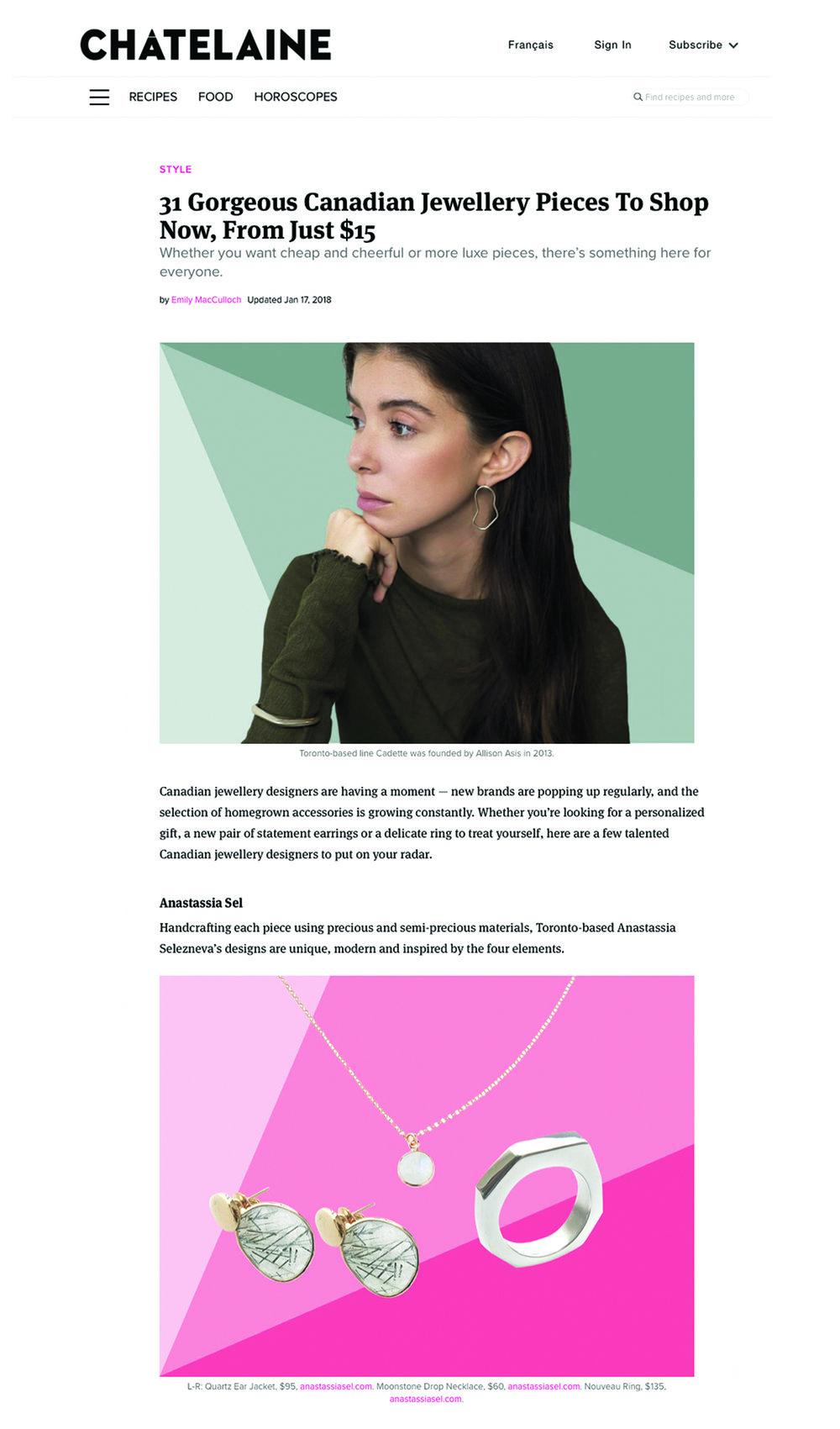 Anastassia Selezneva - Anastassia Sel Jewelry - Chatelaine Magazine.jpg