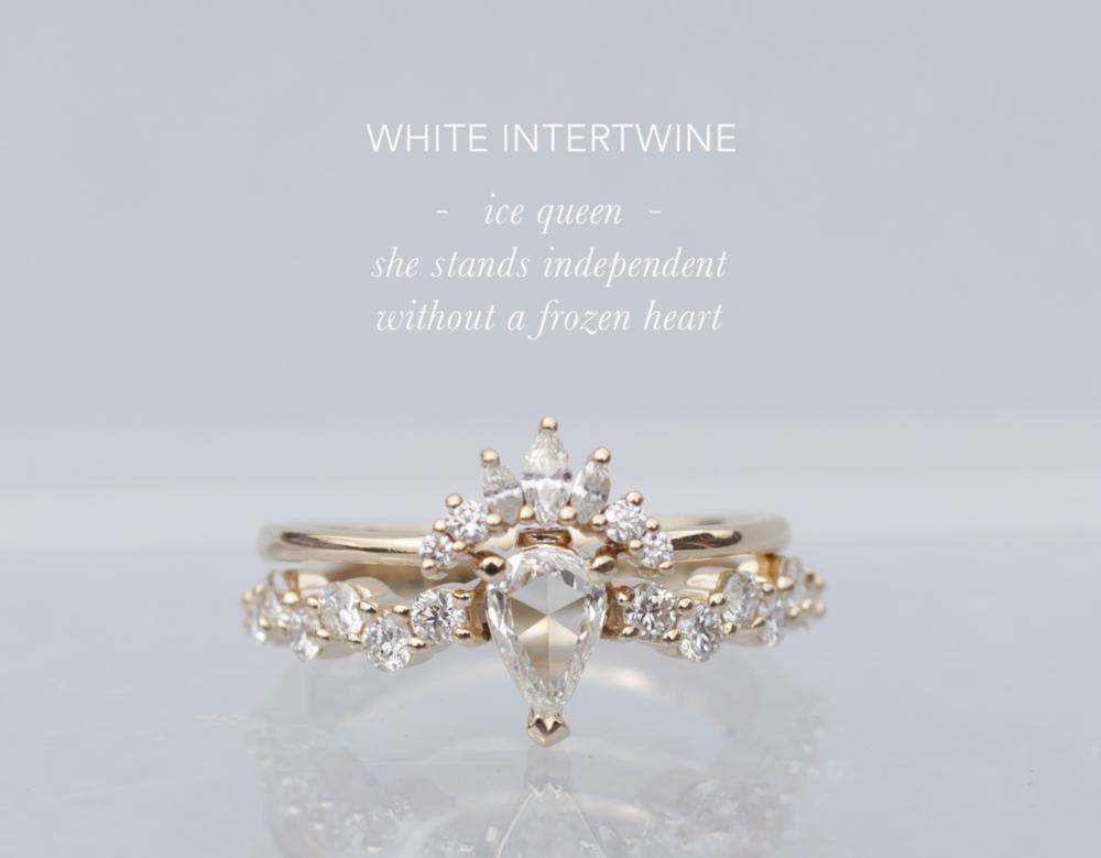 Diamond Tiara - Rose Cut Diamond Engagement Ring - Anastassia Sel Jewelry