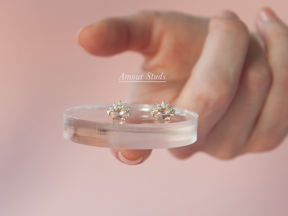 Anastassia Sel Jewelry Lookbook - Morganite Crown Rose Gold Ring