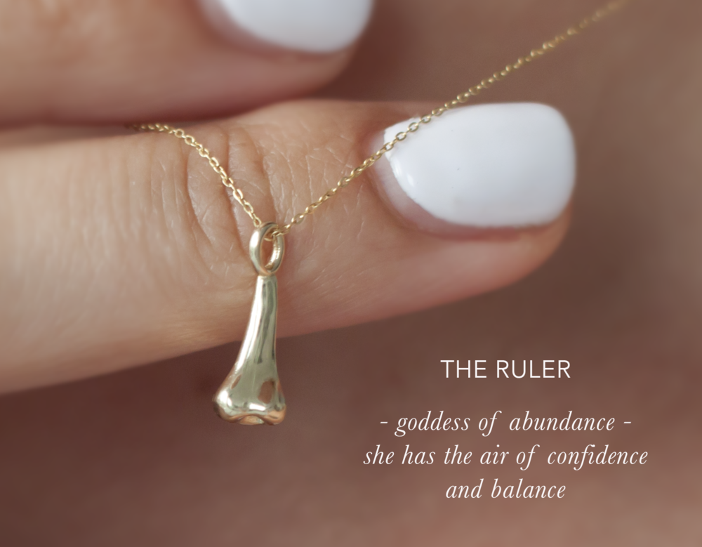 Gold Nose Charm - Anastassia Sel Jewelry