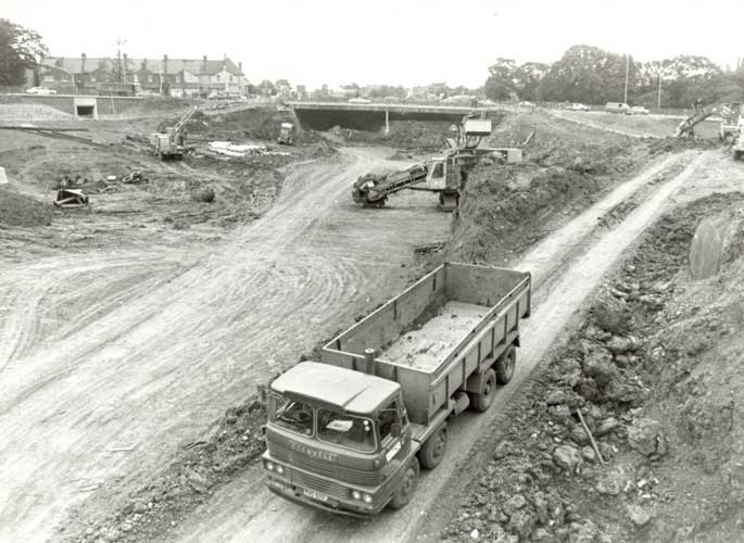 Building the roundabout for the North Circular road
