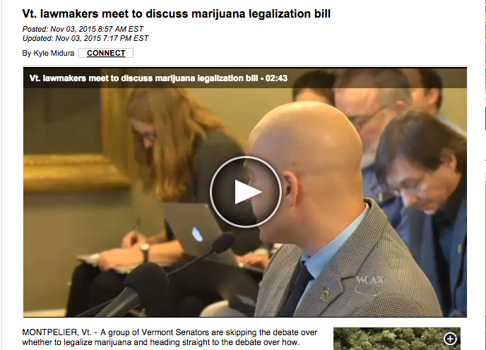 "Eli Harrington, Vermontijuana founder, described as ""Pro pot advocates""...not inaccurate or unfair, maybe next time toss up a website title though next time?"