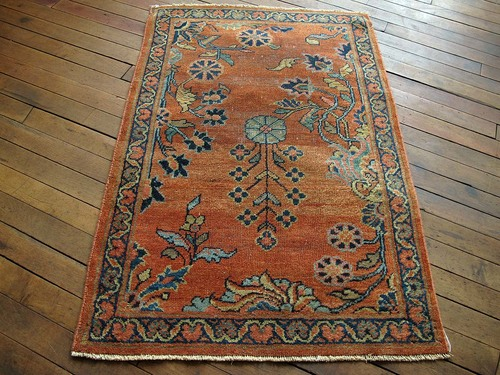 Persian Mahal Rug 2 4 X3 5 Huntt Vintage Rugs Kilims