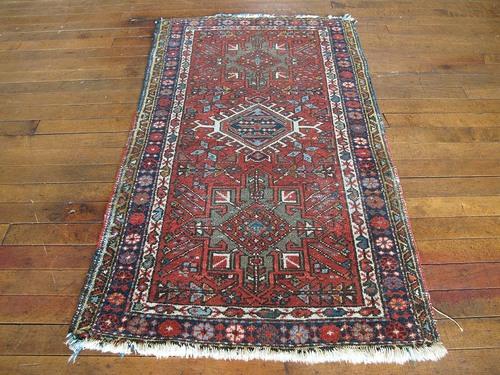 Persian Karajeh Rug 2 4 X3 10 Huntt Vintage Rugs Kilims