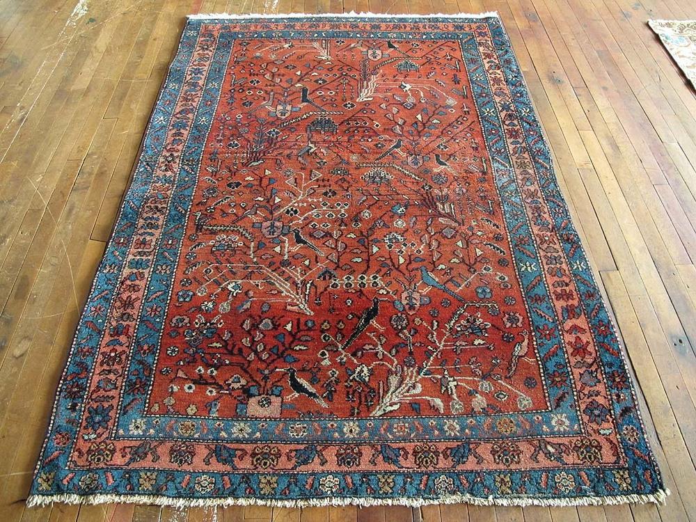 "Persian Malayer Rug 4'5""x6'6"" — Huntt Vintage Rugs & Kilims"