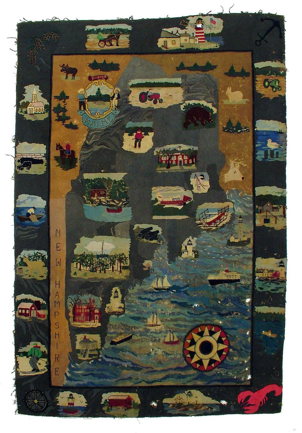 Antique American Hooked Rug 7u00276