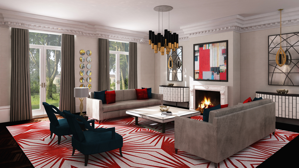 Luxury interior by high-end London interior designer Jo Hamilton