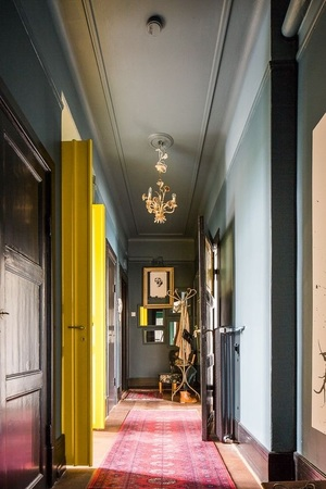 Yellow burst adding to luxury interior design