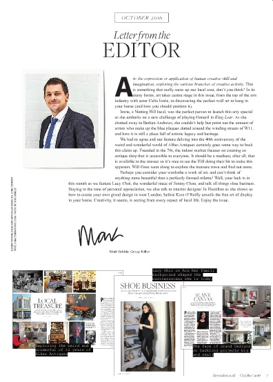 High-end London interior designer Jo Hamilton The Resident page three