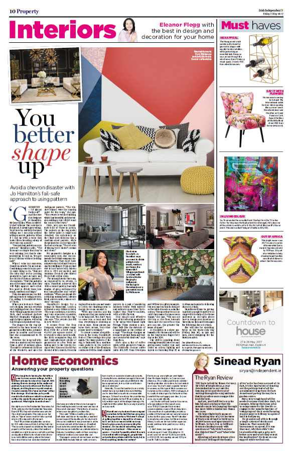 Luxury interior designer Jo Hamilton interview with Irish Independent property journalist Eleanor Flegg