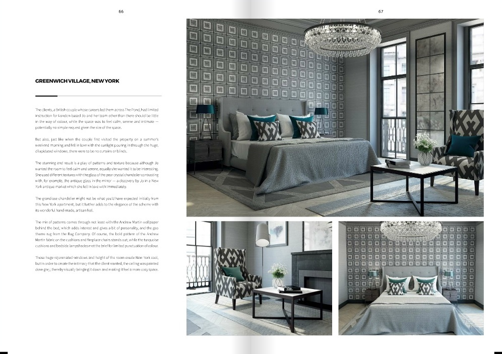Luxury interior designer Jo Hamilton in AoD May 2017 - pages 66 and 67