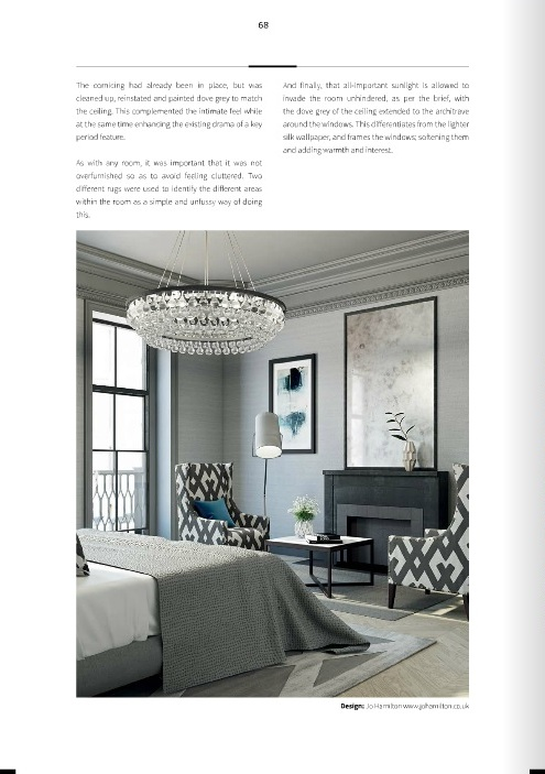 Luxury interior designer Jo Hamilton in AoD May 2017 - page 68