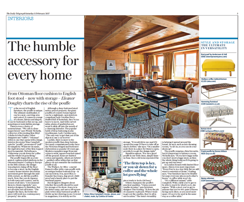 High End Interior Designer Jo Hamilton Daily Telegraph February 11 2017