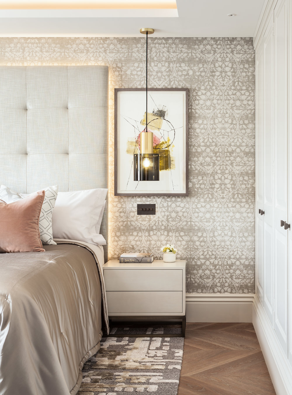 Jo Hamilton Interiors - Kensington bedroom sidetable