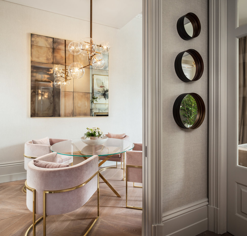 Jo Hamilton Interiors - Observatory Gardens, Kensington, dining area light