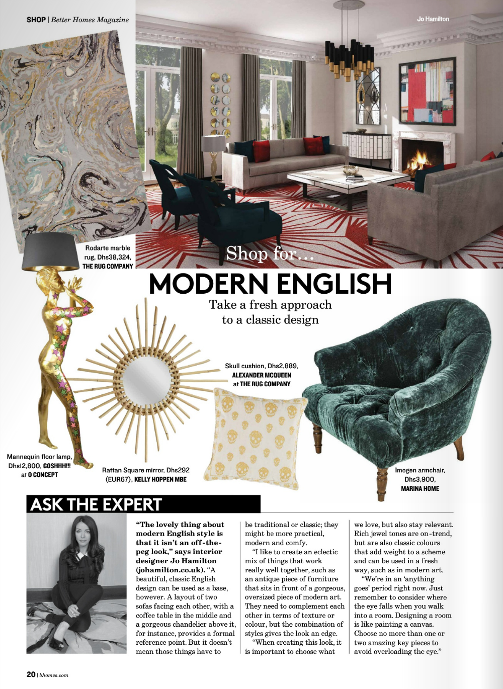 Jo Hamilton guide to luxury modern English interior design