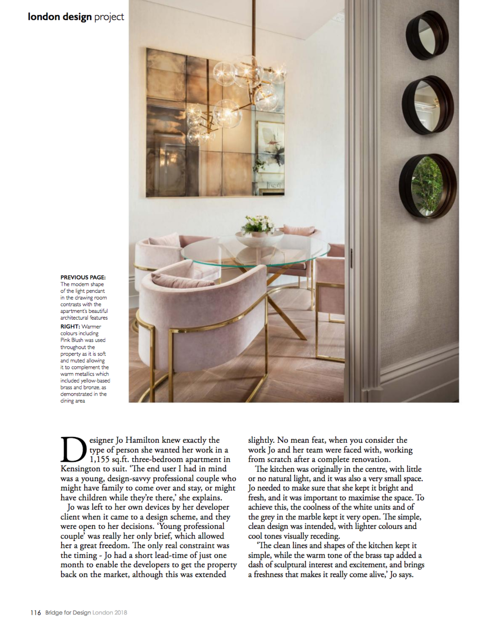 Interior designer Jo Hamilton Bridge for Design p116