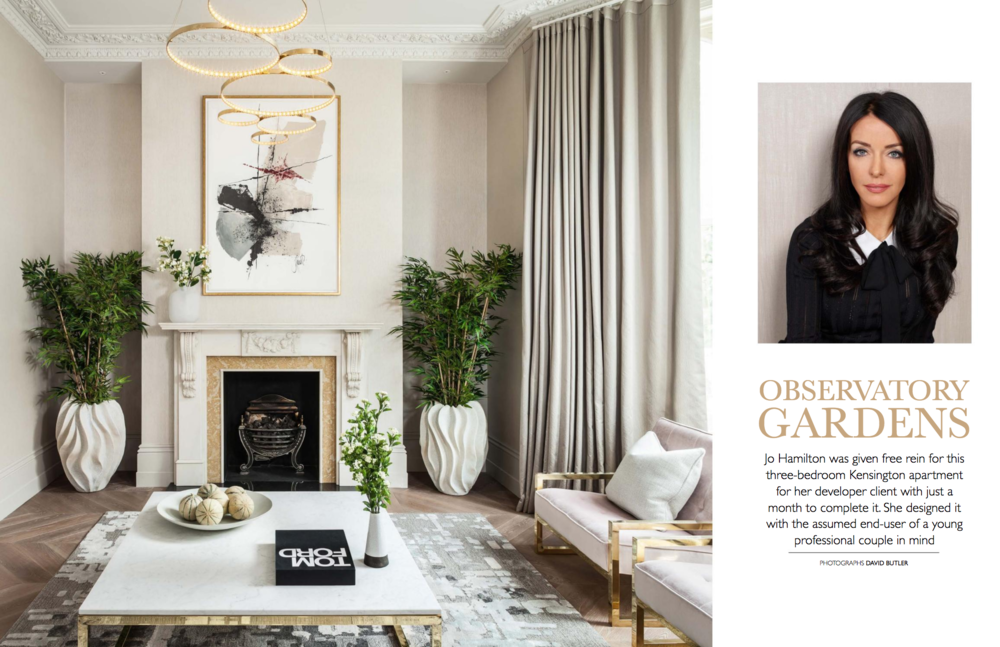 Interior designer Jo Hamilton Bridge for Design p114 p115