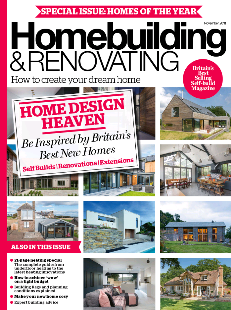 Homebuilding & Renovating featuring high end interior designer Jo Hamilton November 2018 front