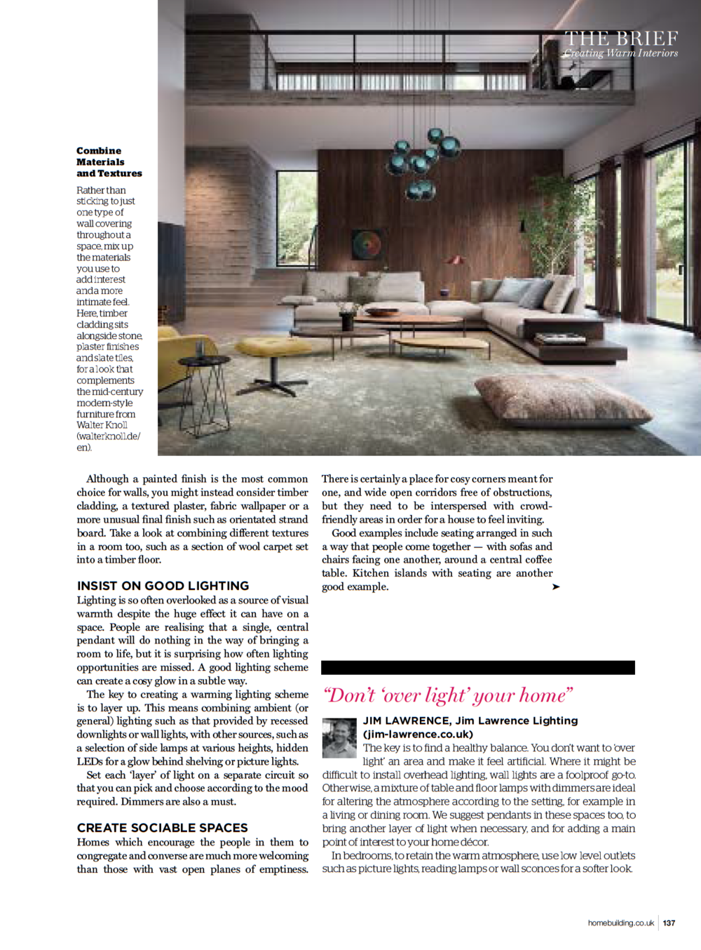 Homebuilding & Renovating featuring high end interior designer Jo Hamilton November 2018 3